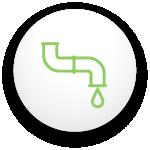 """icône d""""un tuyau avec une goutte d'eau au bout"""