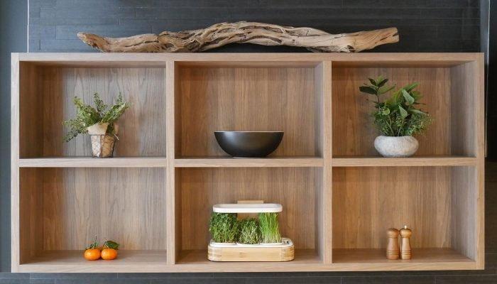 Image du novagrow comptoir 1 étage dans une étagère de cuisine