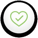 icône qui montre un coeur avec un crochet qui signifie la santé