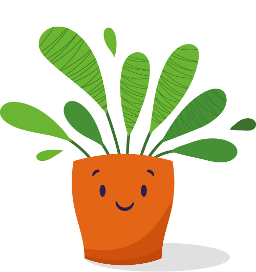 Cartoon image of a happy plant